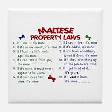 Maltese Property Laws 2 Tile Coaster