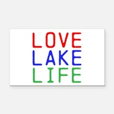 LOVE LAKE LIFE (TW) Rectangle Car Magnet