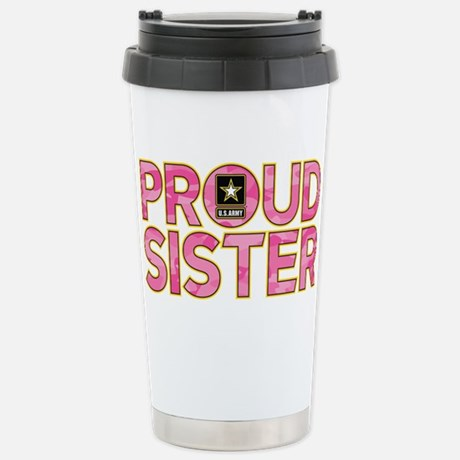 Proud Army Sister Travel Mug