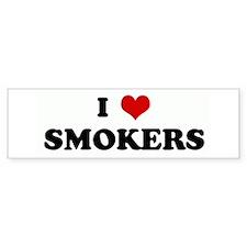 I Love SMOKERS Bumper Bumper Sticker