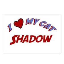 I Love My Cat Shadow Postcards (Package of 8)