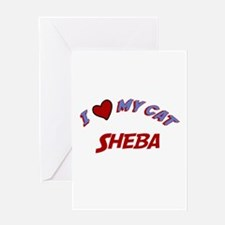I Love My Cat Sheba Greeting Card