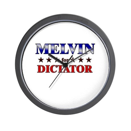 MELVIN for dictator Wall Clock