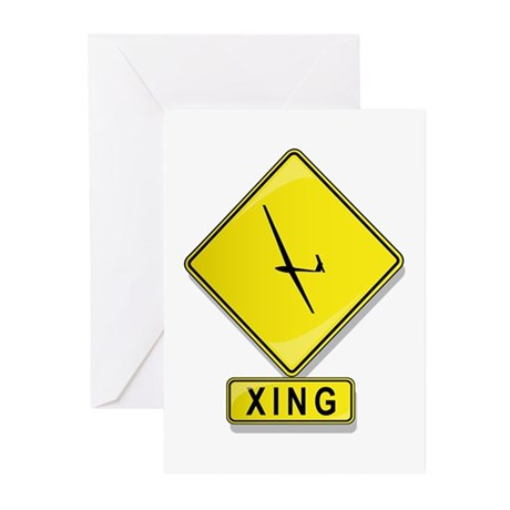 Glider XING Greeting Cards (Pk of 20)