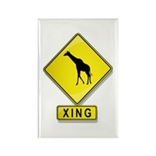 Giraffe XING Rectangle Magnet (10 pack)