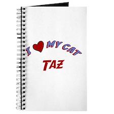 I Love My Cat Taz Journal