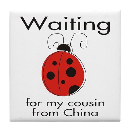 Waiting Cousin Tile Coaster