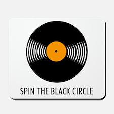 Spin the Black Circle Mousepad