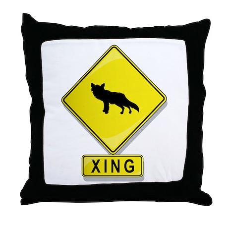 Fox XING Throw Pillow