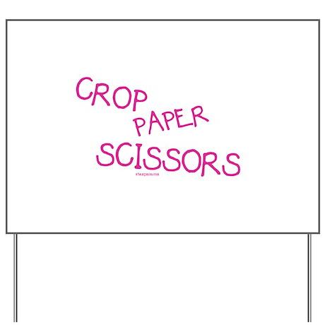 Pink Crop Paper Scissors Yard Sign