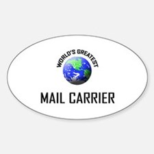 World's Greatest MAIL CARRIER Oval Decal