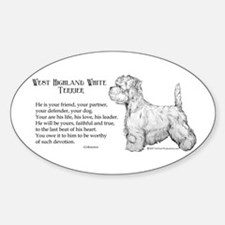 Westhighland Terrier Devotion Oval Decal