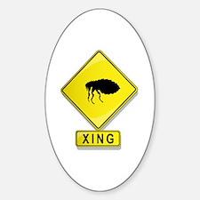 Flea XING Oval Decal