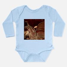 Cute Dorm life Long Sleeve Infant Bodysuit