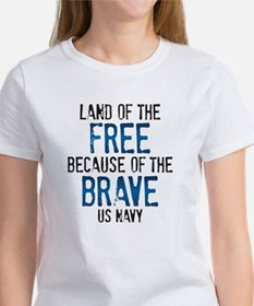 Land of the Free US Navy Women's T-Shirt