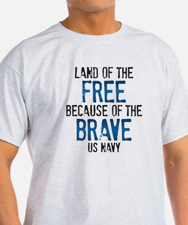 Land of the Free US Navy T-Shirt