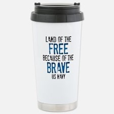 Land of the Free US Nav Stainless Steel Travel Mug