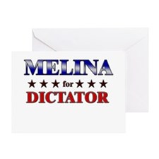 MELINA for dictator Greeting Card