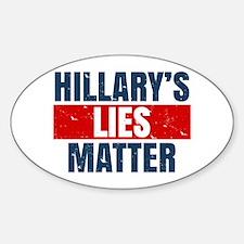 Hillary's Lies Matter Decal