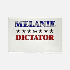 MELANIE for dictator Rectangle Magnet