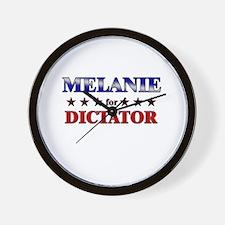 MELANIE for dictator Wall Clock