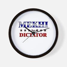 MEKHI for dictator Wall Clock