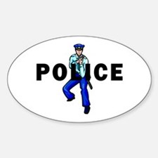 Police Action Sticker (Oval)