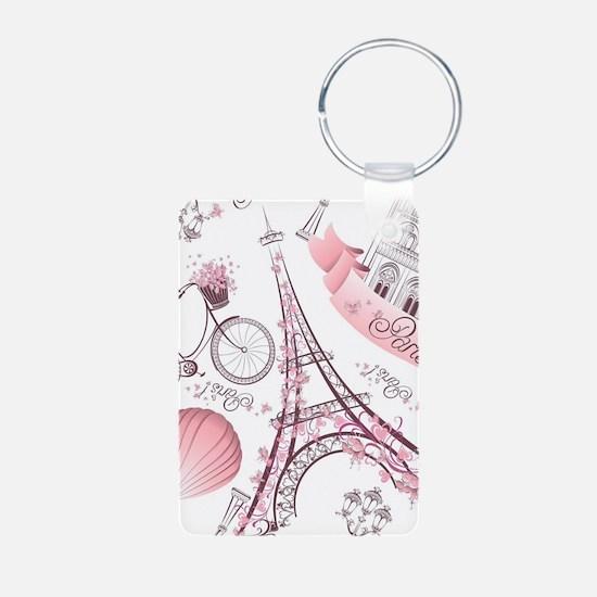 Paris Aluminum Photo Keychain