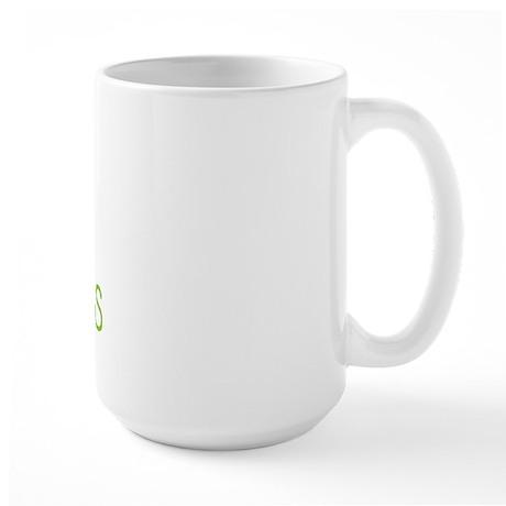 Green Crop Paper Scissors Large Mug