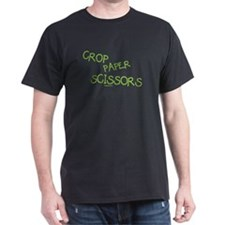 Green Crop Paper Scissors T-Shirt