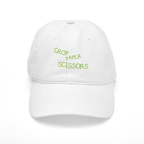 Green Crop Paper Scissors Cap