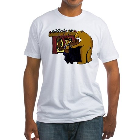 Bear-y Christmas Fitted T-Shirt