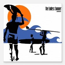 "Endless Summer Surfer Square Car Magnet 3"" x 3"""