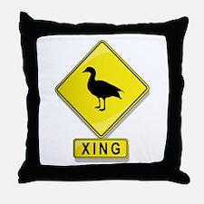 Duck XING Throw Pillow