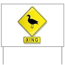Duck XING Yard Sign