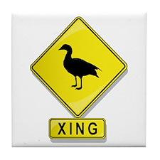 Duck XING Tile Coaster