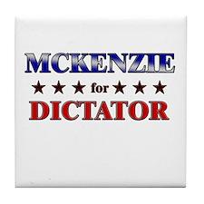 MCKENZIE for dictator Tile Coaster