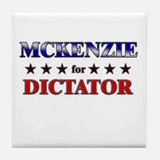 MCKENZIE for dictator Tile Coaster