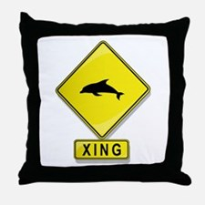 Dolphin XING Throw Pillow