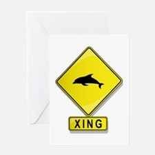 Dolphin XING Greeting Card