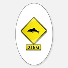 Dolphin XING Oval Decal