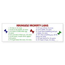 Pekingese Property Laws 2 Bumper Bumper Sticker