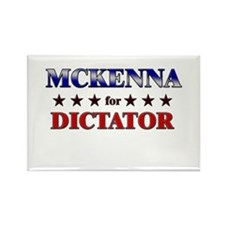 MCKENNA for dictator Rectangle Magnet