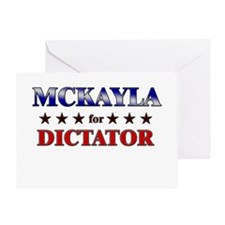 MCKAYLA for dictator Greeting Card