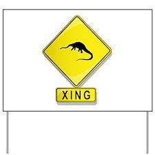 Diplodocus XING Yard Sign