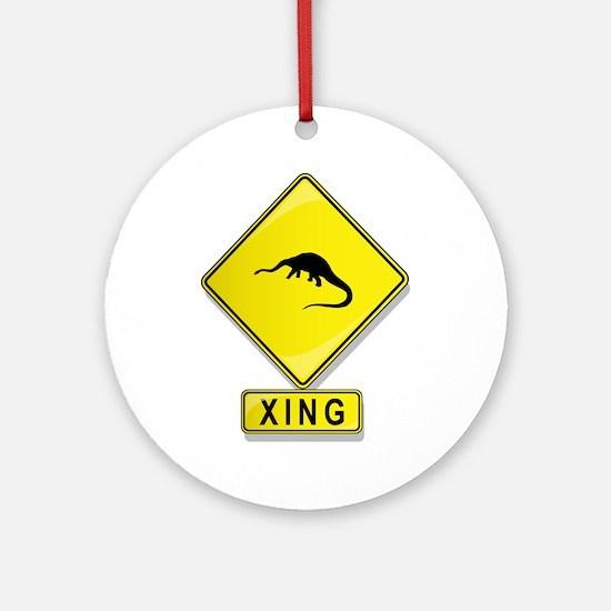 Diplodocus XING Ornament (Round)