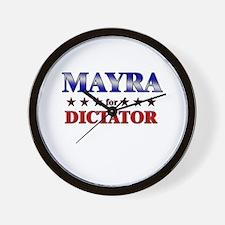 MAYRA for dictator Wall Clock