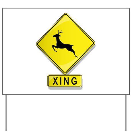 Deer XING Yard Sign