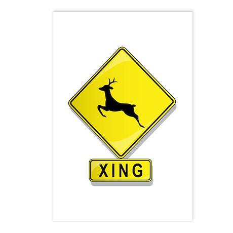 Deer XING Postcards (Package of 8)