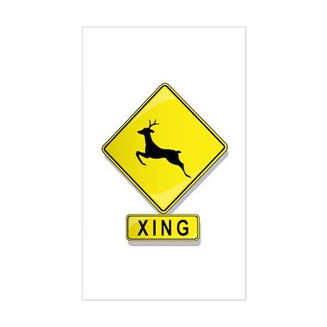 Deer XING Rectangle Sticker